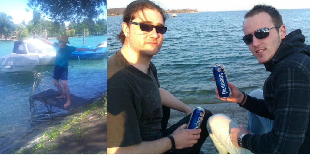 Uživanje na jezeru