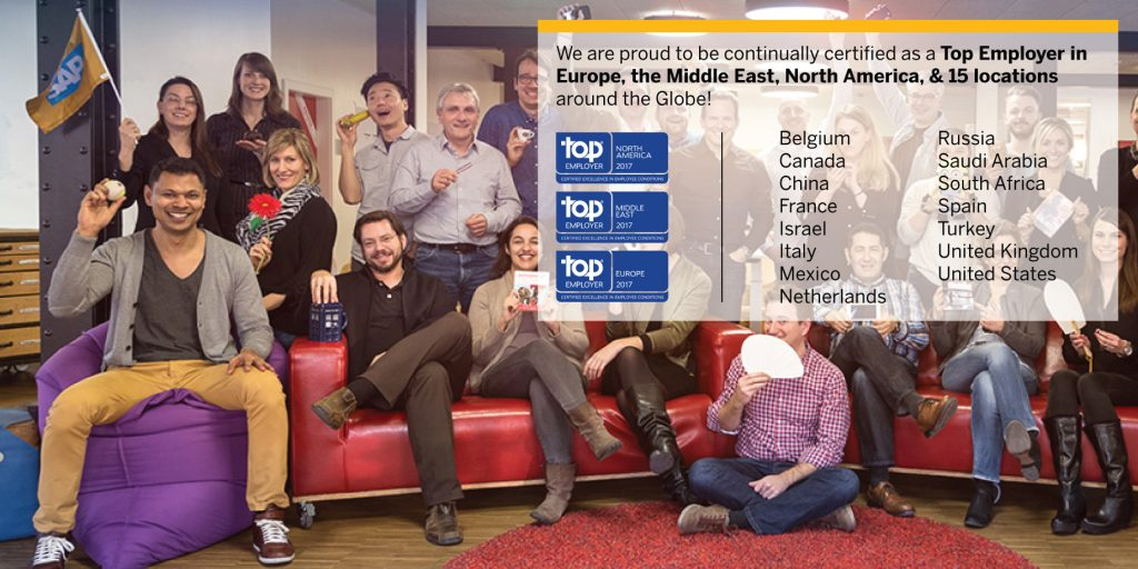 SAP najbolji poslodavac u zemljama širom sveta