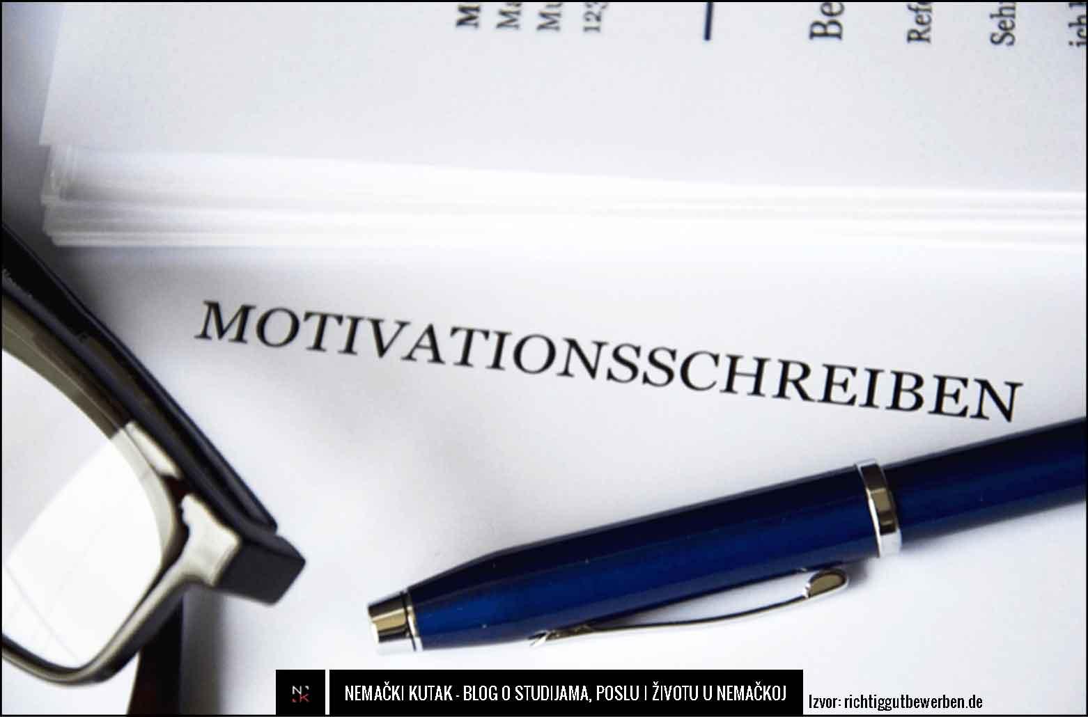Kako napisati motivaciono pismo za nemačko tržište