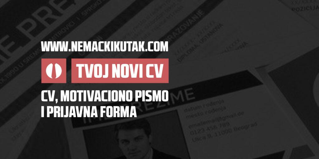 TVOJ NOVI CV Banner