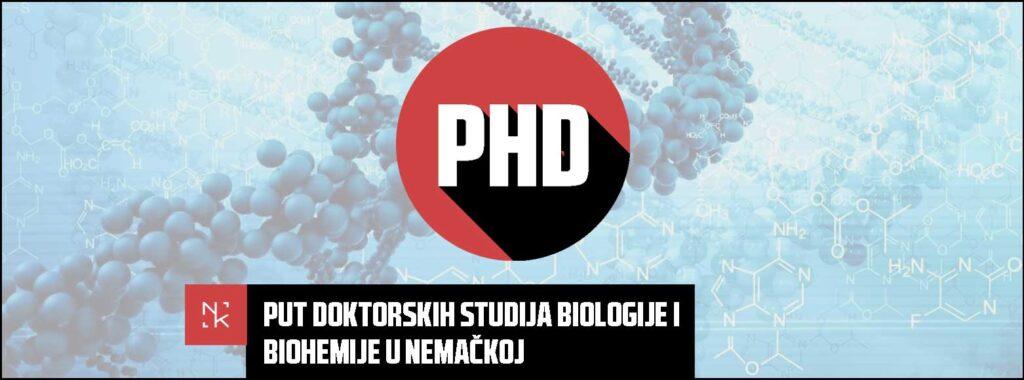 Put doktorskih studija biologije i biohemije u Nemačkoj