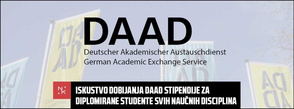 Iskustvo dobijanja DAAD stipendije za diplomirane studente svih naučnih disciplina