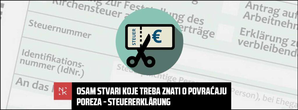 Osam stvari koje treba znati o povraćaju poreza – Steuererklärung