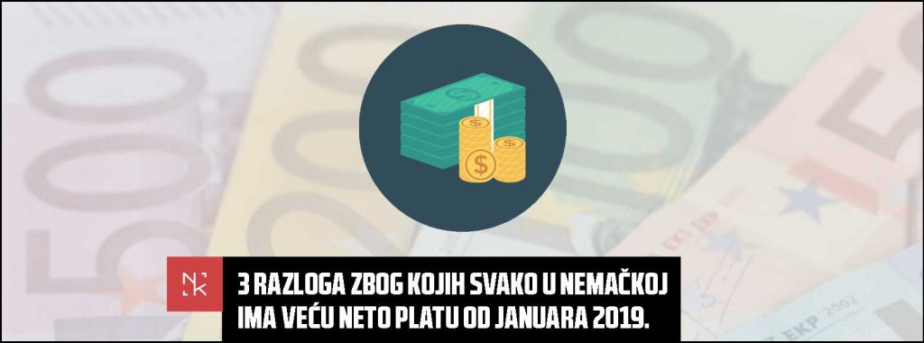 Tri razloga zbog kojih svako u Nemačkoj ima veću neto platu od januara 2019.