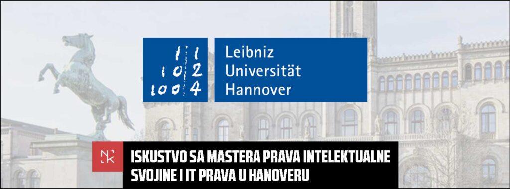 Iskustvo sa mastera prava intelektualne svojine i IT prava u Hanoveru